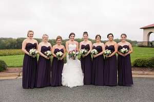 bride and bridesmaids kelli c photography