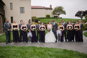Bridal Party after the rain at Childress Vineyards
