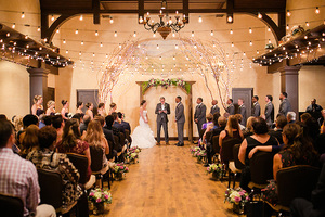 wedding ceremony at childress vineyards