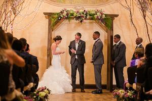 wedding ceremony at childress vineyards