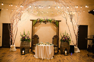 reception decorations at childress vineyards