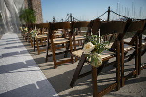 wedding decorations at historic rice mill in charleston sc
