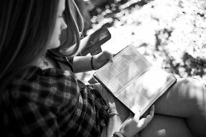 girl reading her bible