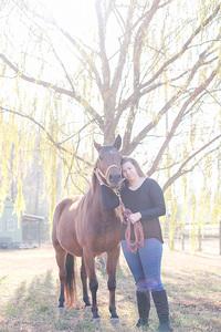 senior and horse
