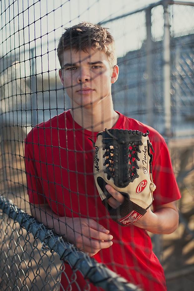 senior and baseball net