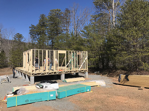 Vacation Home being built by local High School Class