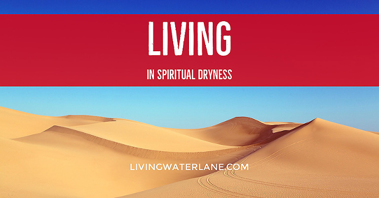 Spiritual Dryness can make you feel very far from the Lord, but it doesn't have to be that way. Keep pushing until you reach the Living Water that Flows from Him.