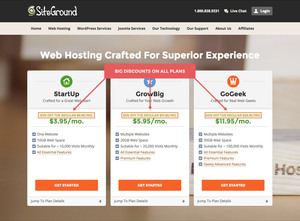 SiteGround Hosting Information Form to Sign up for a New Blog