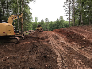 Commercial grading project at living water lane