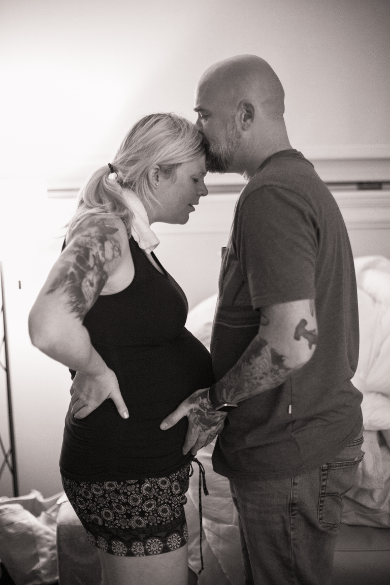 husband and wife in labor